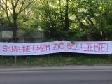 Kraków: nietypowe wyznanie miłosne przy ul. Królowej Jadwigi [ZDJĘCIA]