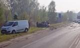Tragiczny wypadek na DK88 w Bytomiu. Zderzyły się ciężarówka i samochód osobowy. Jedna osoba nie żyje