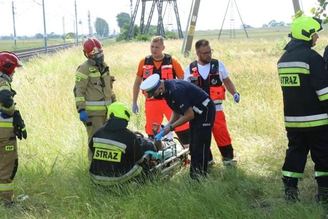 Wypadek na drodze Ulesie - Jezierzany.