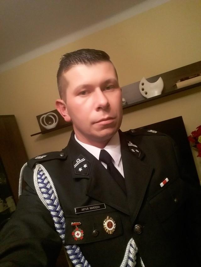 Artur Wardęga z OSP Borek walczy o tytuł Strażaka Ochotnika Roku