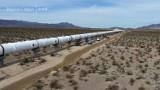 Tak teraz wygląda tor testowy firmy Hyperloop One budowany na pustyni