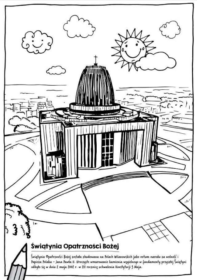 Pokoloruj sobie Świątynię Opatrzności Bożej, czyli nietypowe pomysły na promocję Wilanowa