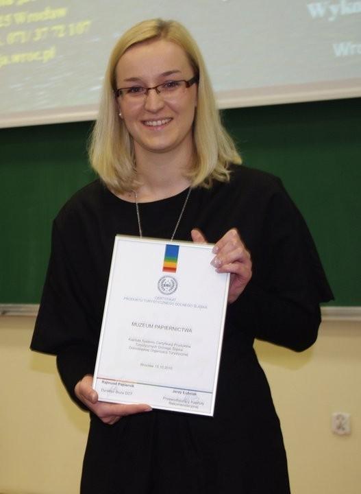 W imieniu Muzeum Certyfikat odebrała pani Marta Nowicka