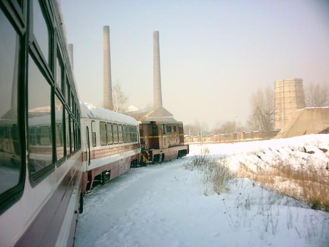 Pociąg GKW dojeżdża do Elektrociepłowni