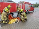 Labrador pod kołami auta. Strażacy z OSP Unisław ruszyli z pomocą do psa. Zdjęcia