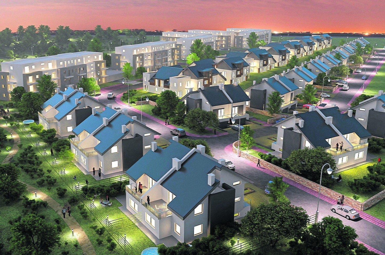 8bc32afa2 Osiedle niewielkich domów w zabudowie bliźniaczej na pograniczu Moreny i  Siedlec - marzenia ze średniej półki