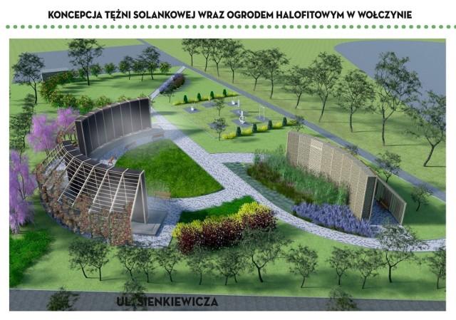 Tężnie solankowe i ogród halofitów powstają w Wołczynie