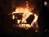 Nocny pożar na działce w Jastrzębiu. Przy Okrzei zapaliła się altanka. Spłonęła całkowicie. Zobaczcie ZDJĘCIA
