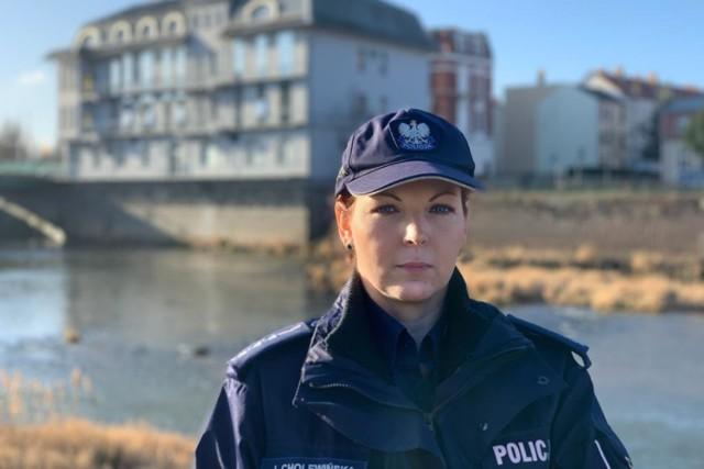 St. asp. Julita Cholewińska pracuje w jedyny w Polsce policyjnym zespole polsko-niemieckim.