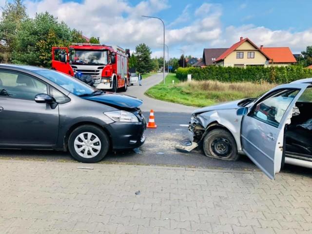 Wypadek na drodze nr 179 w Dolaszewie