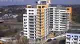 Zobacz budowę apartamentowca na Widzewie w 20 sekund