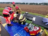 Gm. Stare Pole. Wypadek na drodze krajowej nr 22 w kierunku Elbląga. Jedna osoba trafiła do szpitala