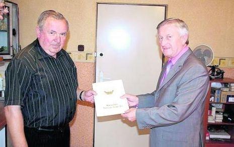 Burmistrz H. Helwing złożył gratulacje Bogdanowi Chadajowi