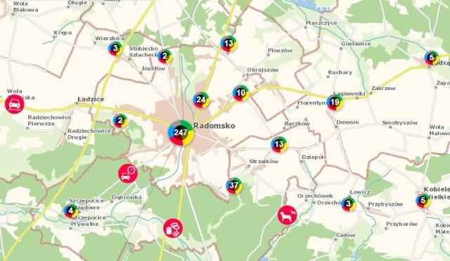 Mapa Zagrozen Bezpieczenstwa W Radomsku Jakie Zglaszamy