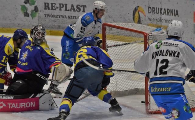 W hokejowych derbach Małopolski Re-Plast Unia Oświęcim pokonała we własnej hali Podhale Nowy Targ 4:3.