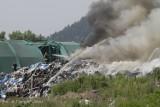 Pożar składowiska odpadów w Wałbrzychu