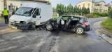 Tarnowskie Góry: wypadek w dzielnicy Rybna. Zderzyły się dwa pojazdy