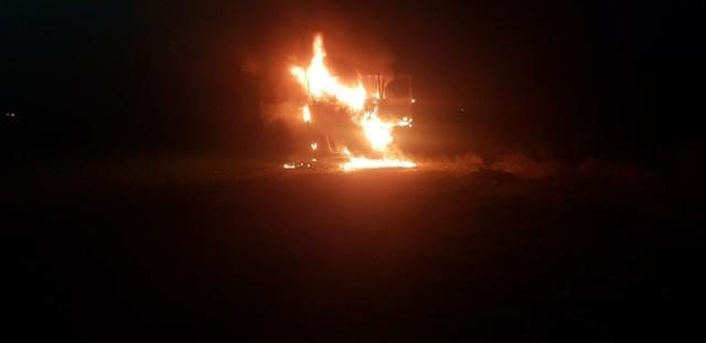 Pożar gasiło kilka zastępów straży pożarnej.