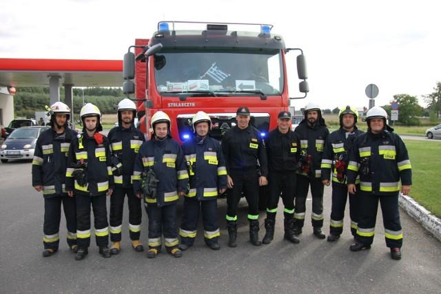 Przywitanie strażaków przez druhów z OSP Zduny - 1 września