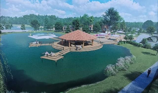 Wizualizacje dotyczące kąpieliska w Ochli