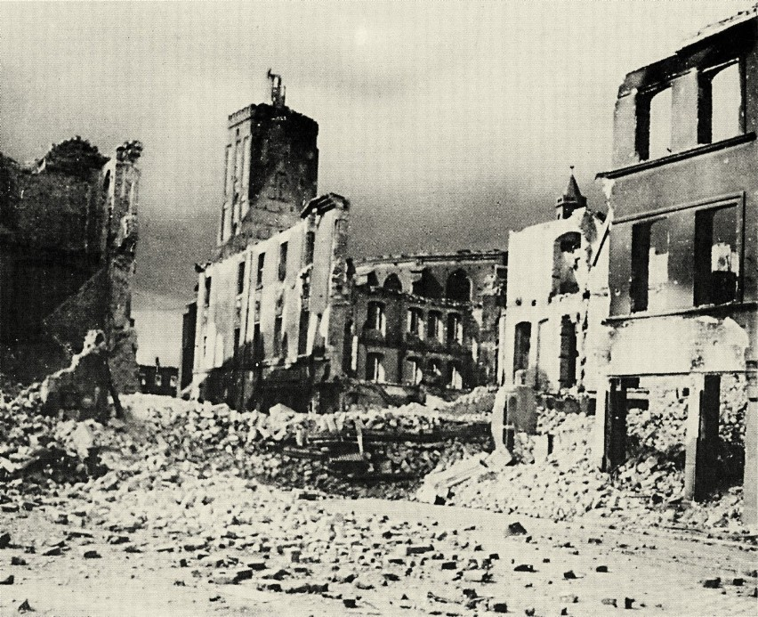 Zniszczony Gubin. Tak wyglądało miasto po zakończeniu II...