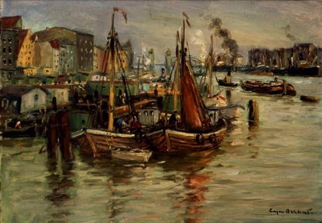 Eugen Dekkert (1865 – 1956 ) Fragment portu 2. dekada XX wieku