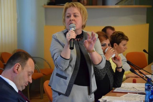 Spotkanie z pielęgniarkami w starostwie powiatowym w Kluczborku.