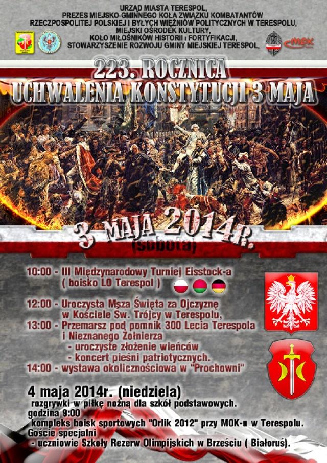 Lokalne obchody Narodowego Święta Konstytucji 3 Maja w powiecie bialskim.
