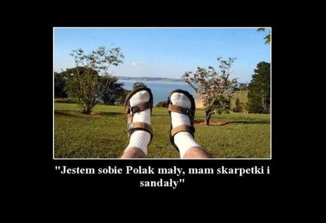 Jestem Sobie Polak Mały Mam Skarpetki I Sandały Z Polaków