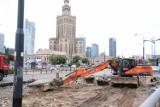 Armagedon w centrum Warszawy. Zamknięte ulice, objazdy, zastępcza komunikacja miejska. Trwa przebudowa Marszałkowskiej