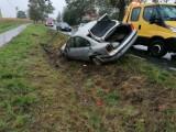 Samochód dachował w Czeczewie pod Grudziądzem. Kierująca była w stanie po spożyciu alkoholu
