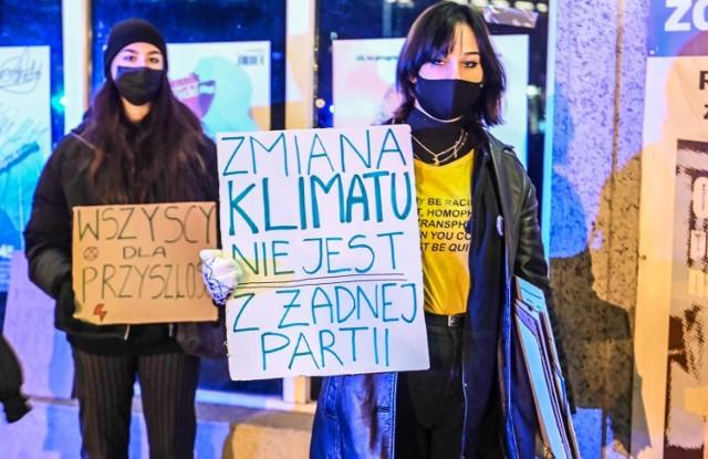 Dzień przed unijnym szczytem w Gdańsku odbył się protest ruchów klimatycznych 9.12.2020