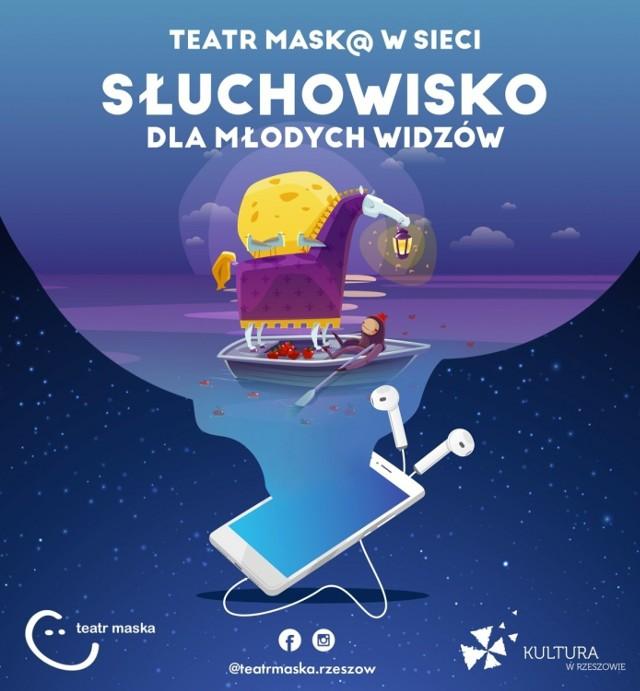 """Na profilu Teatru """"Maska"""" na Facebooku publikowane są słuchowiska dla dzieci przygotowane przez aktorów """"Maski"""" codziennie o godz. 18"""