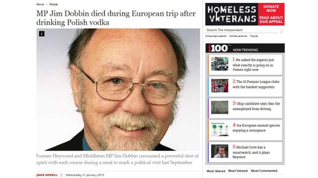 Jim Dobbin był cenionym politykiem