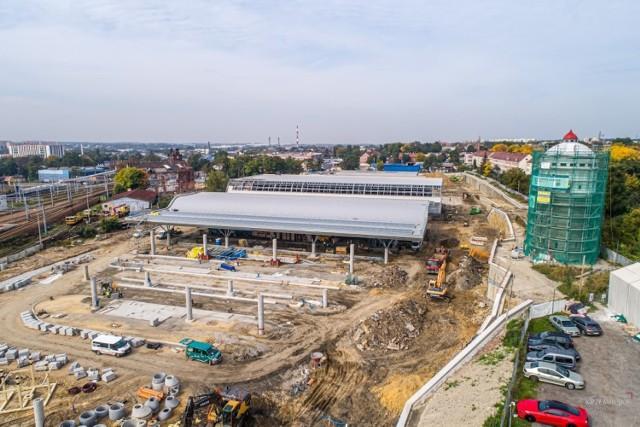 Budowa Centrum Przesiadkowego w Gliwicach.   Zobacz kolejne zdjęcia. Przesuwaj zdjęcia w prawo - naciśnij strzałkę lub przycisk NASTĘPNE