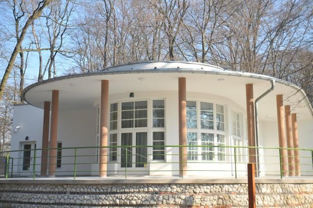 Odnowiony Pawilon Okocimski w Lesie Wolskim