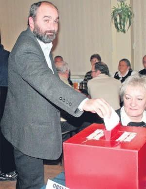 Andrzej Kwiatkowski cieszy się, że delegaci nie odwołali rady nadzorczej, foto: Małgorzata Ziółkowska