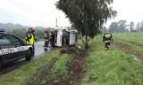 Wypadek w Mszanie: Auto wylądowało na boku. Jedna osoba ranna [ZDJĘCIA]