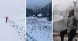 Tatry pod śniegiem. TOPR ostrzega, żeby nie wychodzić w wyższe partie gór, a chętnych nie brakuje