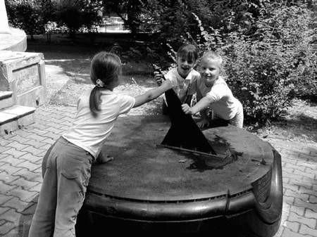 Dzieci nudzą się tylko w czasie deszczu. Foto: JAKUB MORKOWSKI