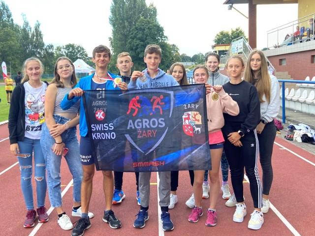 Lekkoatleci Agrosu Żary mimo przeszkód wywalczyli 5 medali