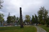 Zakopane. Dziwny kilkumetrowy pień w parku miejskim