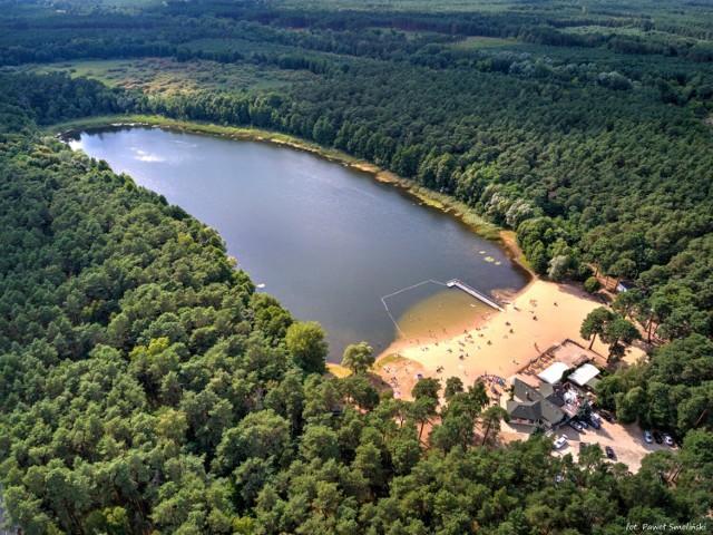 Jezioro Piaszczyste z lotu ptaka
