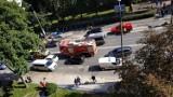 Wypadek w centrum Radomia. Jedna osoba została ranna, były duże utrudnienia w ruchu