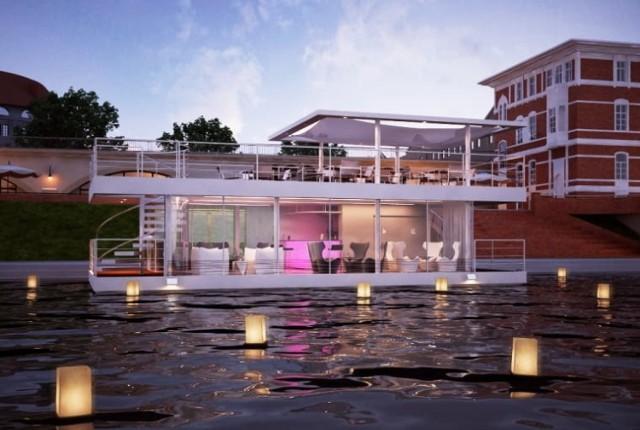 Śmiały projekt zakładał przebudowę barki na Warcie na pływającą restaurację.