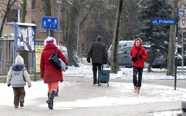 """Ulice o """"zimowych"""" nazwach na wrocławskich Krzykach, mogą być również ciekawą inspiracją na zimowy spacer."""