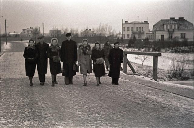 Lata 1940-1945, Most przy ulicy 1-go Maja. W tle widoczna ulica Kozietulskiego.