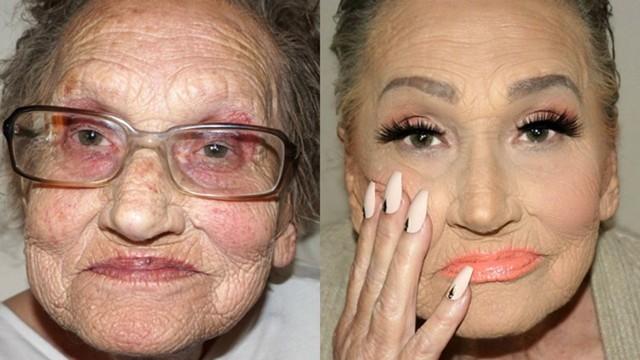 Dobrze wykonany makijaż potrafi zdziałać prawdziwe cuda: nie tylko wymodelować twarz, ale nawet odmłodzić o kilka dekad. Najlepszym dowodem są zdjęcia starszych pań, które zostały poddane metamorfozie. To niewiarygodne, jak wiele można zmienić za pomocą odpowiedniego konturowania. Pod warstwą podkładu, korektora, pudru i bronzerów nie tylko znikają zmarszczki - twarz zyskuje koloryt, a spojrzenie blask i pewność siebie. Jak zmieniły się starsze kobiety? Są nie do poznania! Zobaczcie sami w galerii.  credits