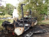 Pożar przyczepy campingowej w Ustce [ZDJĘCIA]