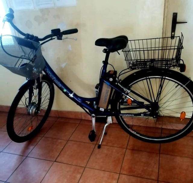 Skradziony przez 36-latka rower elektryczny został już zwrócony właścicielce